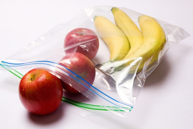 Inteplast bags with fruit