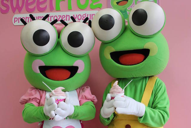 sweetFrog frogs