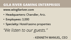 Gila River Gaming Enterprises info