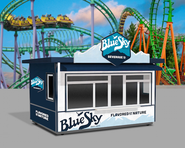 Six Flags BlueSky kiosk
