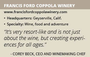 Francis Ford Coppola Winery info