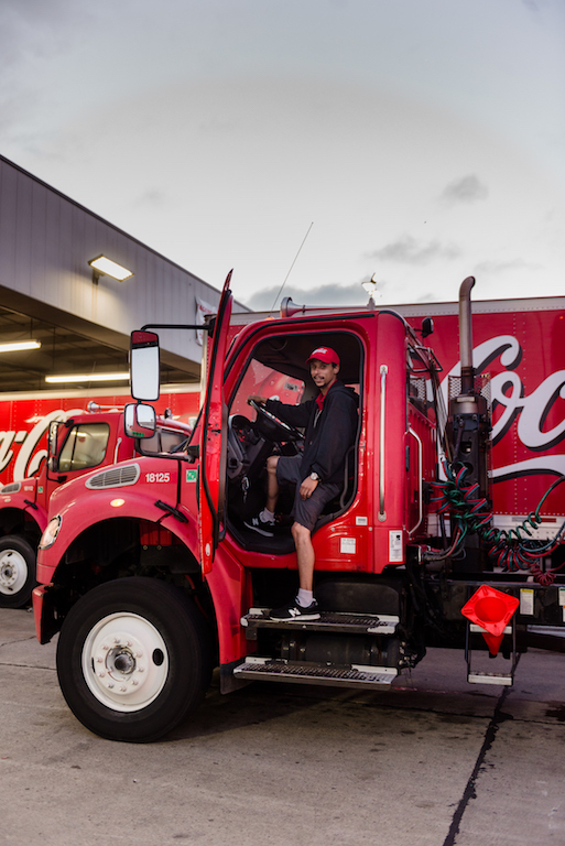 Coca Cola Bottling Co. truck