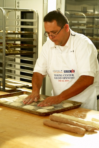 Lesaffre Yeast Baking Center Technician Roberto Alvarez making conchas