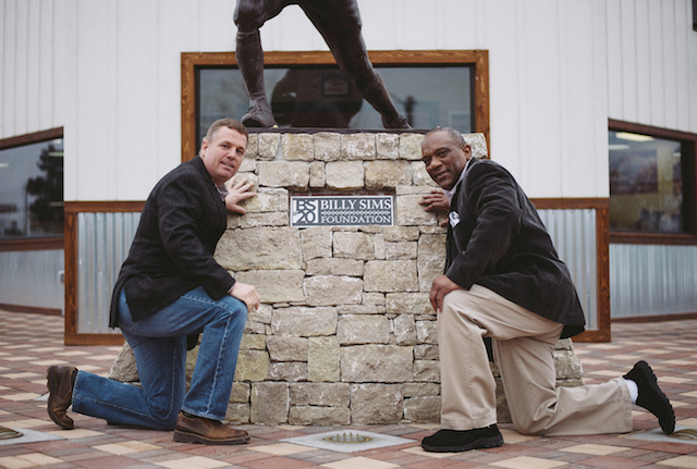 Billy Sims BBQ statue