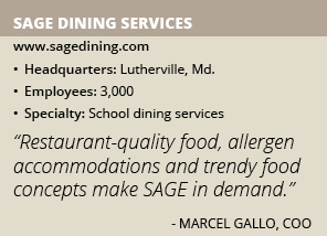 Sage Dining Services info
