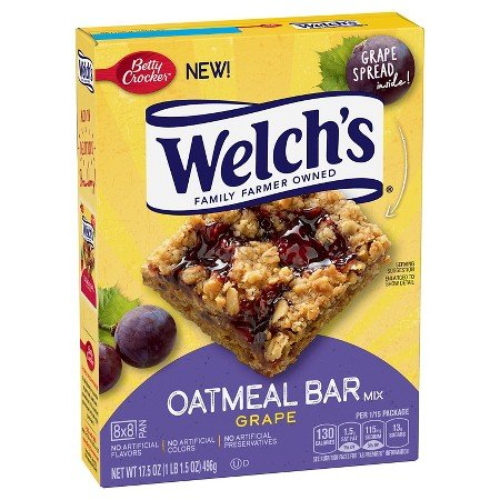 Welchs Grape Oat Bars
