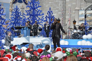 Seal performs Nov. 11, 2015 during the taping of the 'Disney Parks Unforgettable Christmas Celebration' TV special in Magic Kingdom park. (Mariah Wild, photographer)