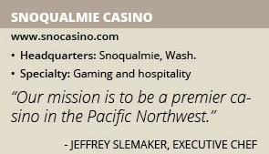 Snoqualmie Casino - Food and Drink International